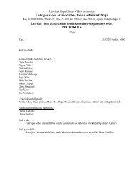 2010.gada 23. marta sēdes protokols Nr. 2 - Vides aizsardzības fonds
