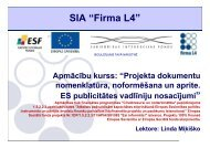 Projekta dokumentu nomenklatūra, noformēšana un aprite. ES ...