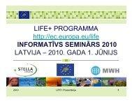Prezentācija - Vides aizsardzības fonds