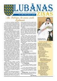 Nr. 7 (391) 2013. gada 12. aprīlis - Lubānas novads