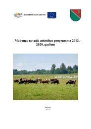 Madonas novada attīstības programma 2013.- 2020 ... - Madona.lv