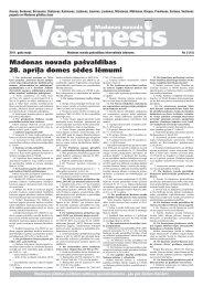 Novada vēstnesis 2011. gada maijs - Madona.lv