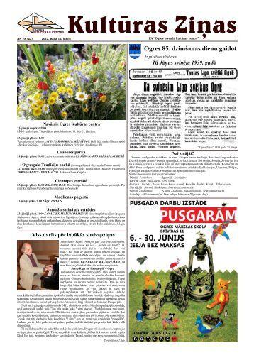 Kulturas Zinas Nr 10 - Ogres Kultūras centrs