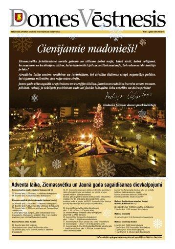2007.gada decembris - Madona.lv