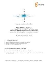 apzinātība darbā. apzinātība darbā ar emocijām - KPORT.LV