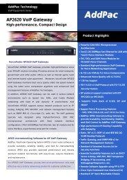 AP2620 VoIP Gateway High-performance, Compact Design