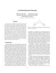 Correlational Spectral Clustering - Max Planck Institute for Biological ...