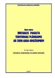 Teritorijas izmantošanas un apbūves noteikumi - Birzgales pagasts
