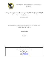 CORRUPTION PREVENTION AND COMBATING BUREAU ... - KNAB