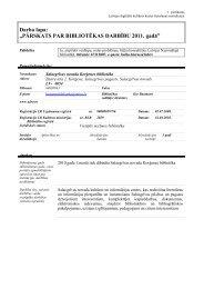 Salacgrīvas novada Korģenes bibliotēkas 2011. gada statistiskie ...