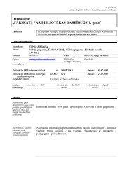 Vidrižu pagasta bibliotēkas 2011. gada statistiskie rādītāji - Limbažu ...