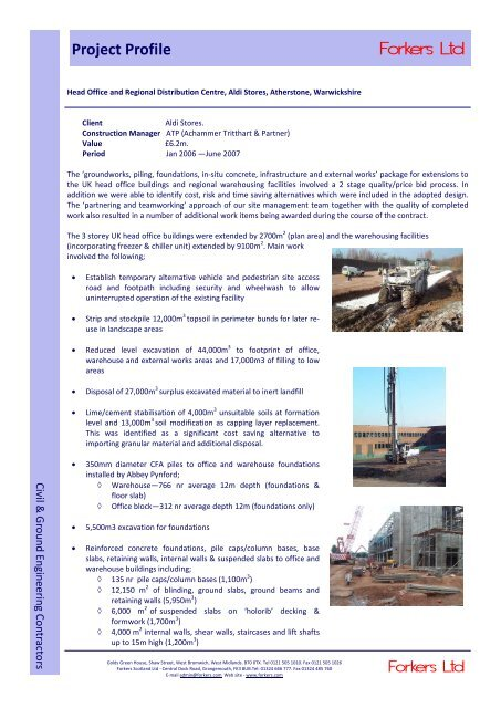 c8c27a1734 Project Profile Regional Distribution Centre