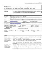 Salacgrīvas novada Salacgrīvas bibliotēkas 2010. gada statistiskie ...