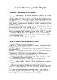 Salacgrīvas novada Ainažu bibliotēkas 2011. gada pārskats