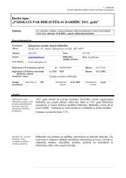 Salacgrīvas novada Ainažu bibliotēkas 2011. gada statistiskie rādītāji
