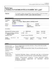 Viļķenes pagasta Vitrupes bibliotēkas 2011. gada statistiskie rādītāji