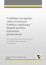 Vadlīnijas korupcijas risku novēršanai Publisko iepirkumu ... - KNAB