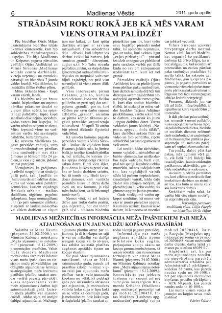Madlienas Vēstis - Ogres novads