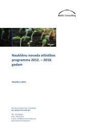 Naukšēnu novada attīstības programma 2012 ... - Naukšēnu novads