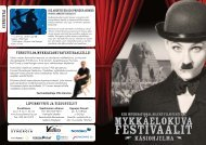 Ohjelma PDF-muodossa - Mykkäelokuvafestivaalit