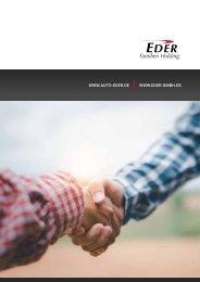Imagebrochüre EDER Familien Holding GmbH & Co.KG