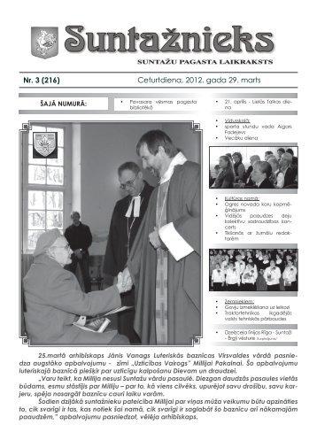 Nr. 3 (216) Ceturtdiena, 2012. gada 29. marts - Ogres novads