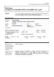 Pāles pagasta bibliotēkas 2011. gada statistiskie rādītāji - Limbažu ...