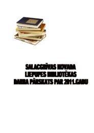 Salacgrīvas novada Liepupes bibliotēkas 2011. gada pārskats