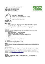 Hot rocks, wild water UIAA - International Youth Camp