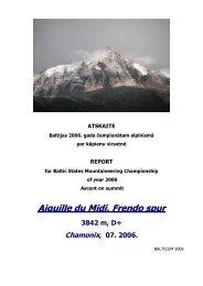 Aiguille du Midi, Frendo spur