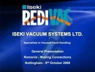 ISEKI VACUUM SYSTEMS LTD. - Emita