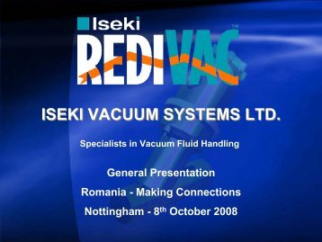 ISEKI VACUUM SYSTEMS LTD. - Emita
