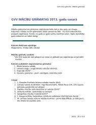 GVV MĀCĪBU GRĀMATAS 2013. gada vasarā - Garezers