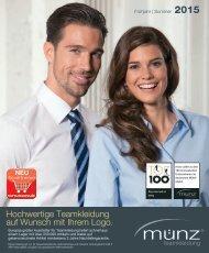 münz teamkleidung - Katalog Frühjahr | Sommer 2015