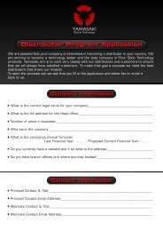 Distributor Program Application - yamasakiot.com