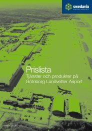 Prislista (pdf 7 Mb - nytt fönster) - Swedavia