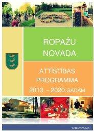 Attīstības plānošanas dokumenti - Ropaži.lv