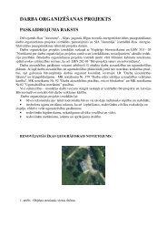 darba organizēšanas projekts jaunmāja - SEJA.LV