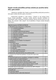Pašvaldības policijas paveiktais 2012. gada oktobrī - Ropaži.lv