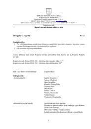 13. augusta ārkārtas domes sēdes protokols - Ropaži.lv