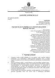 SAISTOŠIE NOTEIKUMI Nr.12 PAR SOCIĀLĀS ... - Ropaži.lv