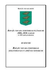 Teritorijas izmantošanas un apbūves noteikumi - Ropaži.lv