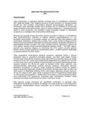 Ziņojums par vides investīcijām, 2001 - Vides ministrija