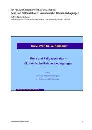 Neubauer, Prof. Dr. Günter Reha und Fallpauschalen - 5 ...