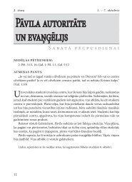 Pāvila autoritāte un evaņģēlijs - Rīgas 1. draudze