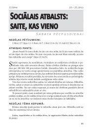 Sociālais atbalsts: saite, kas vieno S ab ata p ē ... - Rīgas 1. draudze