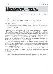 Mikroskopā – tumsa - Rīgas 1. draudze