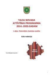 talsu novada attīstības programma 2014.-2020.gadam - Talsi