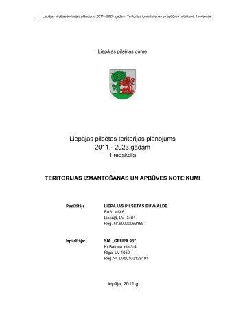 Liepājas pilsētas teritorijas plānojums 2011.- 2023.gadam - Grupa93