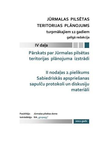 Pārskats par Jūrmalas pilsētas teritorijas plānojuma ... - Grupa93